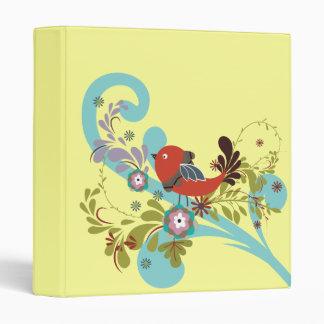 lovely little bird in a tree vector vinyl binder