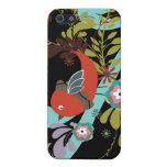 lovely little bird in a tree vector iPhone 5 case