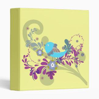 lovely little blue bird vector 3 ring binder