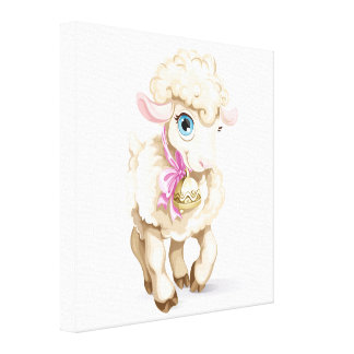 Lovely Little Lamb Canvas Art