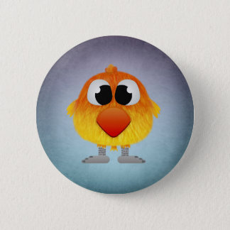 Lovely Little Orange And Yellow Bird Pinback Button
