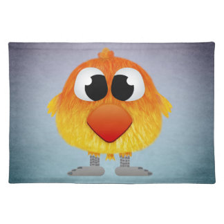Lovely Little Orange And Yellow Bird Placemat