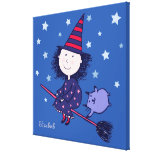 Lovely Little Witch Children's Canvas Print