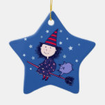 Lovely Little Witch Halloween Ornament (Star)