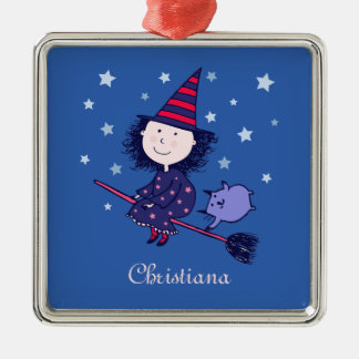 Lovely Little Witch Halloween Premium Ornament