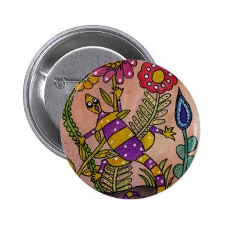 Lovely Lizard Pinback Button