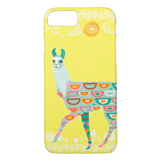 Lovely Llama - Green iPhone 7 Case