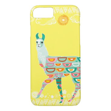 creativetaylor Lovely Llama - Green iPhone 7 Case