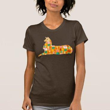 creativetaylor Lovely Llama - Orange T-Shirt