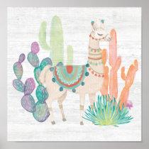 Lovely Llamas II Poster