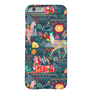 Lovely Llamas on Dark Teal Barely There iPhone 6 Case