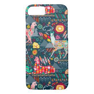 Lovely Llamas on Dark Teal iPhone 7 Case