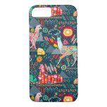 Lovely Llamas On Dark Teal Iphone 8/7 Case at Zazzle