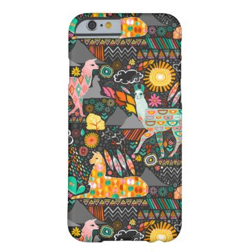creativetaylor Lovely Llamas on Grey Barely There iPhone 6 Case