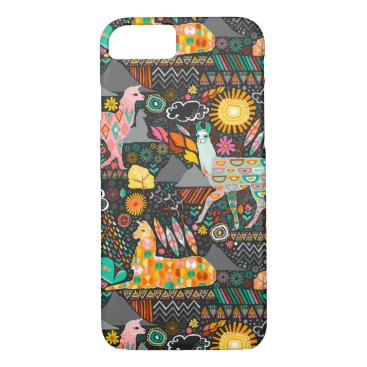 creativetaylor Lovely Llamas on Grey iPhone 7 Case