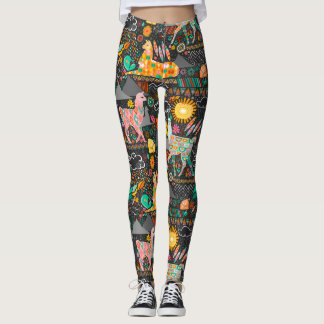 Lovely Llamas on Grey Leggings