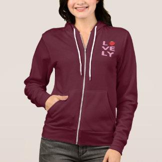 lovely logo Women's American Apparel Fleece hood Hoodie