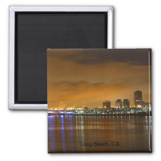 Lovely Long Beach, CA 2 Inch Square Magnet