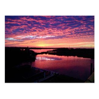 Lovely Louisiana Sunset Postcard
