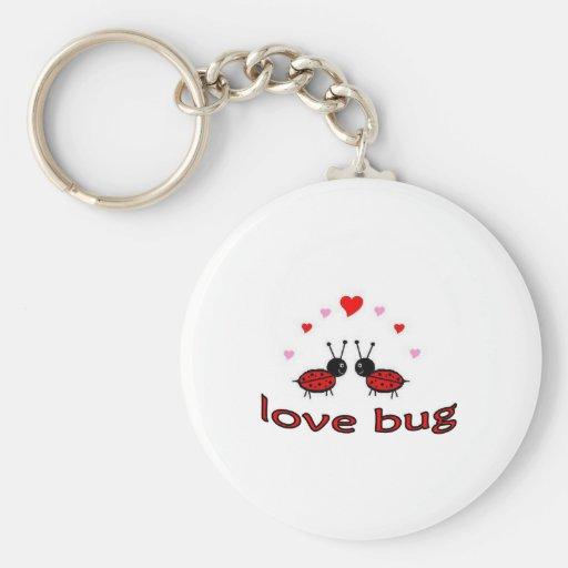 Lovely Love Bug Basic Round Button Keychain