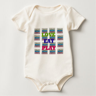 Lovely Love Eat Play Hakuna Matata Kenya shield gi Baby Bodysuit