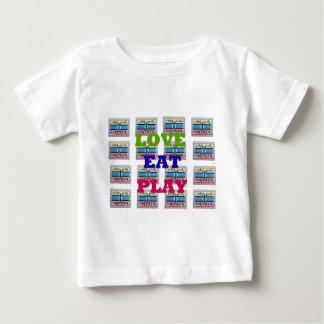 Lovely Love Eat Play Hakuna Matata Kenya shield gi Baby T-Shirt