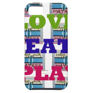 Lovely Love Eat Play Hakuna Matata Kenya shield gi iPhone SE/5/5s Case