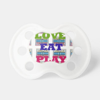 Lovely Love Eat Play Hakuna Matata Kenya shield gi Pacifier