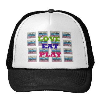 Lovely Love Eat Play Hakuna Matata Kenya shield gi Trucker Hat