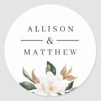 Lovely magnolia wedding sticker