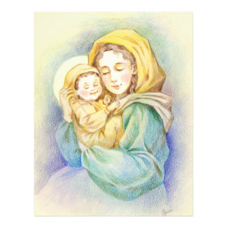 Lovely Mary and Baby Jesus Flyer Design