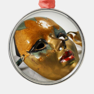Lovely Mask Metal Ornament