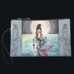 "Lovely Mermaid Mini Satin Clutch Bag<br><div class=""desc"">&quot;The Enchanted Sea&quot; &#169; Molly Harrison  www.mollyharrisonart.com</div>"