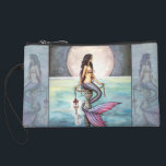 "Lovely Mermaid Mini Satin Clutch Bag<br><div class=""desc"">&quot;The Enchanted Sea&quot; &#169; Molly Harrison  www.mollyharrisonart.com</div>"