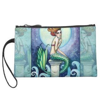Lovely Mermaid Mini Satin Clutch Bag Purse