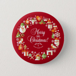 Lovely Merry Little Christmas | Pin Button