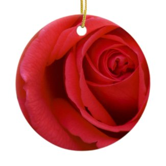 Lovely Merry Red Rose Christmas Tree Ornaments