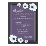 Lovely Midnight Flowers ~ Bridal Shower invitation
