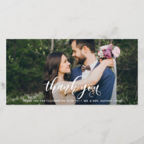 Lovely Modern Calligraphy Wedding Thank You
