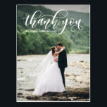 """Lovely Modern Calligraphy Wedding Thank You Postcard<br><div class=""""desc"""">Elegant,  stylish and whimsical vertical card to thank your guests for being a part of your wedding day. This customizable thank you postcard features white modern calligraphy overlay. This design is also available in other cards.</div>"""