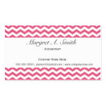 Lovely, modern, trend pink chevron professional business card template