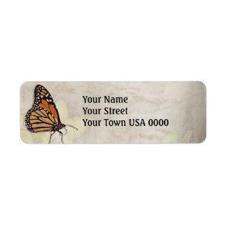 lovely monarch butterlies design label