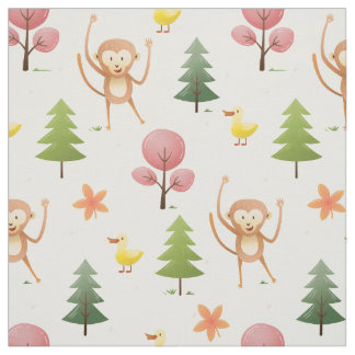 Monkey fabric zazzle for Nursery monkey fabric