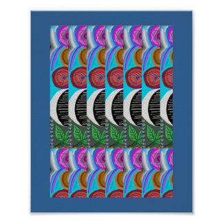 Lovely MOON Pattern: Navin Joshi, LOWPRICE gifts Poster