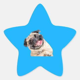 Lovely mops dog star sticker