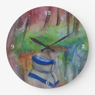 Lovely morning Round (Large) Wall Clock