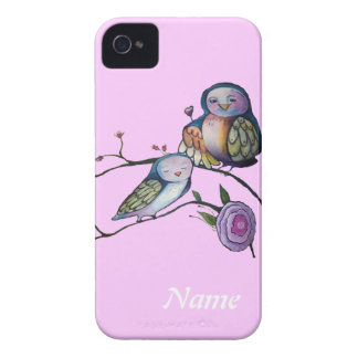 Lovely moter and baby owl iPhone 4 Case-Mate case