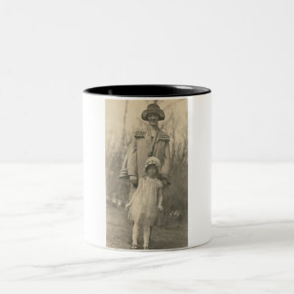 Lovely Mother and daughter Two-Tone Coffee Mug