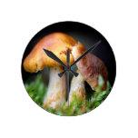 Lovely mushroom round wallclock