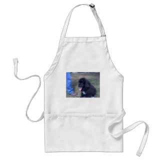 Lovely Newfie puppy (Newfoundland dog breed) Adult Apron